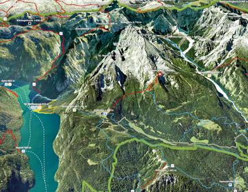 Visualisierung 3D-Karten Nationalpark Berchtesgaden, Watzmann