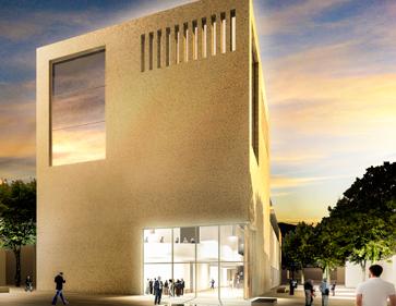 3D Visualisierung Wettbewerb Bibliothek Heidenheim Aussenraum