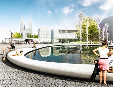 3D Visualisierung Wettbewerb Landschaftsarchitektur Augustaplatz, Baden-Baden