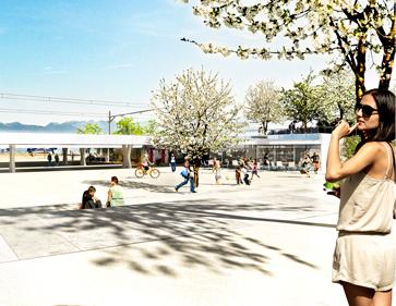 3D-Visualisierung Seeufer Anbindung, Starnberg