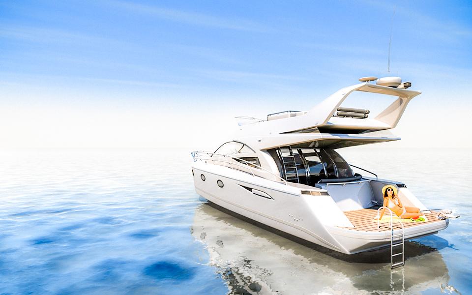 Produktvisualisierung Luxus Yacht