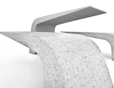 Produktvisualisierung Möbeldesign, Bank Beton