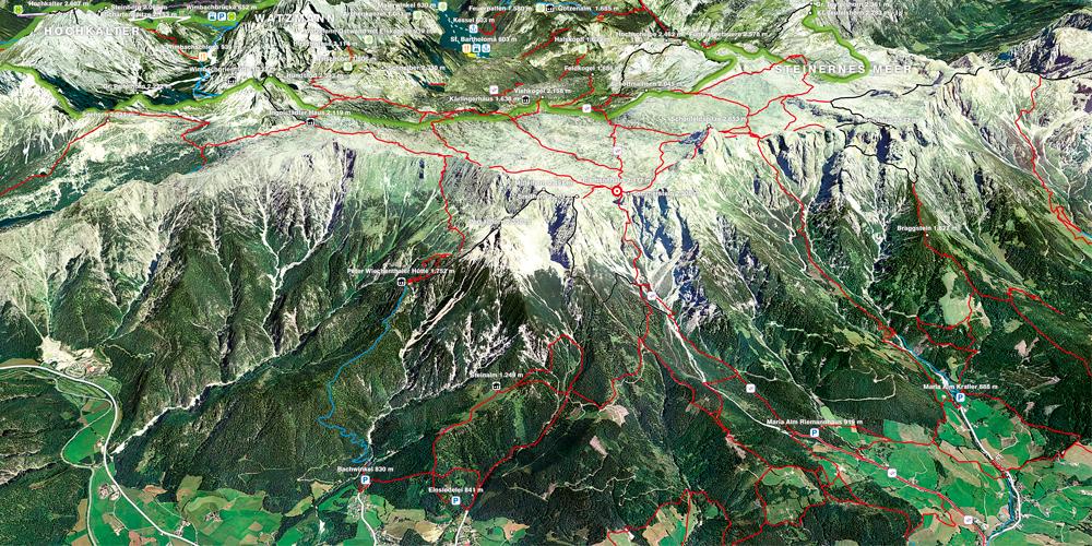 3D-Karten Nationalpark Berchtesgaden