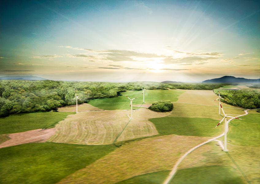 Windrad und Windkraftanlage
