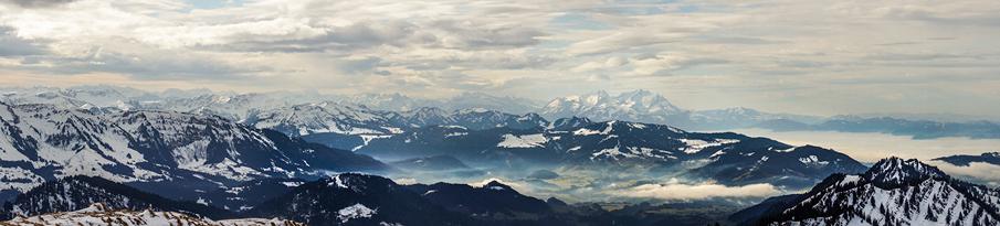 3Raum visualisierung Bildbearbeitung Alpen